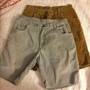 Shorts - 2 pairs Men's Corduroy shorts size 36